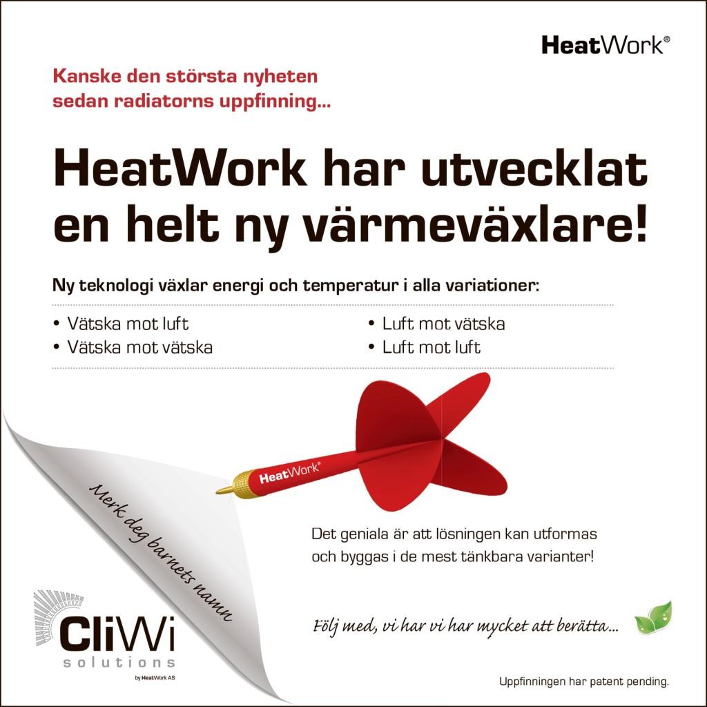 HeatWork har utvecklat en helt ny värmeväxlare!